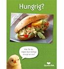 """Texten """"Hungrig?"""" över en saftig vegobaguette med curryröra och massor grönsaker"""