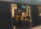 Reklamskylt i Stockholms tunnelbana