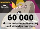 60 000 skriver under namninsamling mot vilda djur på cirkus