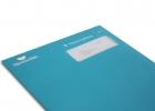 Blått kuvert från Djurens Rätt