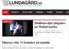 Artiklar i studenttidningen Lundagård