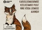 Kampanjbild föreställande räv med skylt