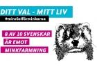 8 av 10 svenskar är emot minkfarmning