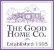 Loggan utgörs av texten The Good Home Co - Established 1995. Ovanför finns en stiliserad bild av ett gammalt hus.