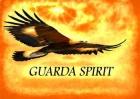 Guarda Spirit-logga organgegul himmel med svävande fågel