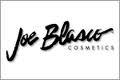 Joe Blasco i snirklig text och Cosmetics med raka versaler