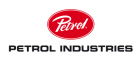 Petrol Industries i svart med röd cirkel ovanför