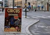 Kampanjaffisch mot cirkus