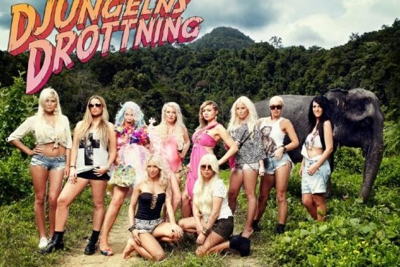 Deltagarna i tv-programmet Djungels drottning i en gruppbild
