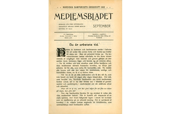 Det första numret av Djurens Rätts medlemstidning, från 1902