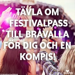Vinn festivalpass till Bråvalla för dig och en kompis