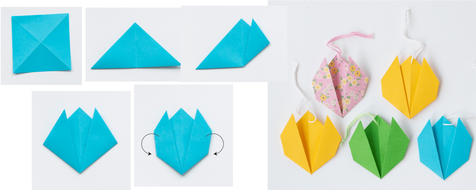 Origamiblommor